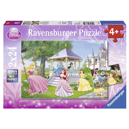 Puzzle Ravensburger Disney Princezny, 2 x 24 dílků