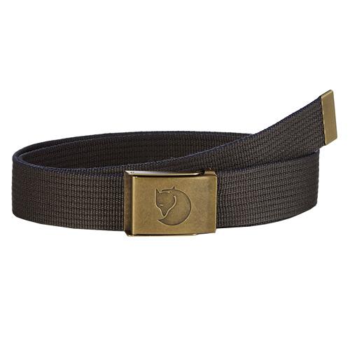 Fjällräven Canvas Brass Belt 4 cm. Mountain Grey | 32 | One size