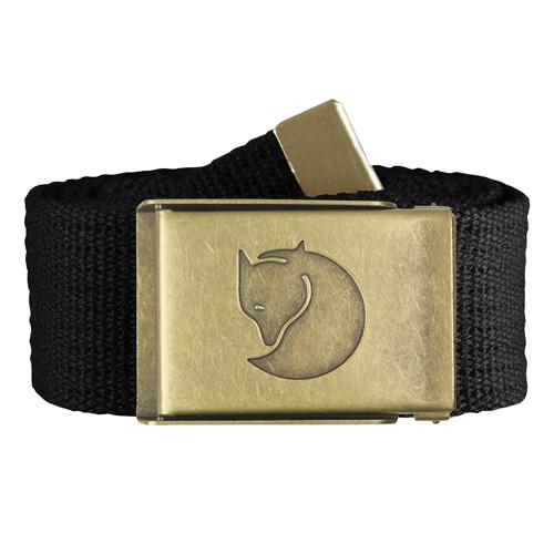 Fjällräven Canvas Brass Belt 4 cm. Black | 550 | One size