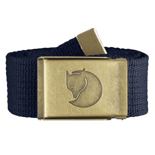 Fjällräven Canvas Brass Belt 4 cm. Dark Navy | 555 | One size
