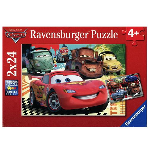 Puzzle Ravensburger Disney Auta Noví přátelé, 2 x 24 dílků