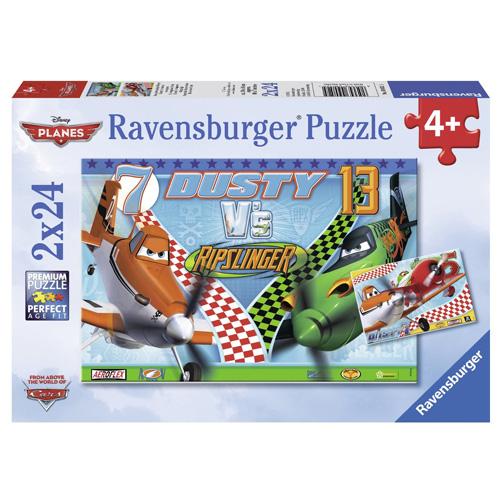Puzzle Ravensburger Disney Letadla, 2 x 24 dílků