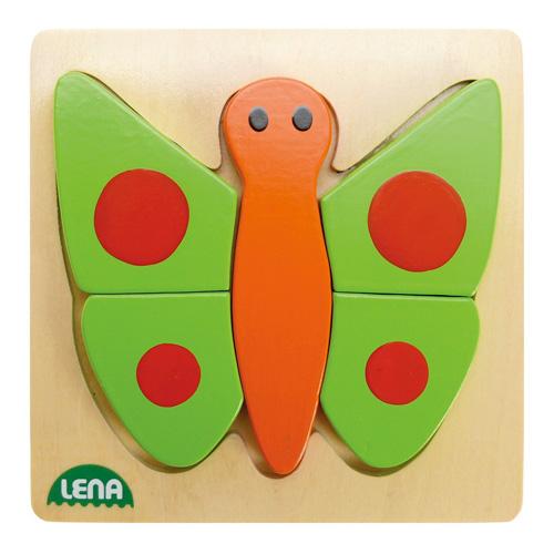 Dřevěné puzzle Lena Motýl, 5 dílků