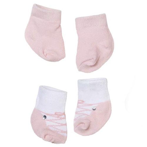 Zapf Creation Ponožky pro panenku Zapf 2 páry - světle růžové