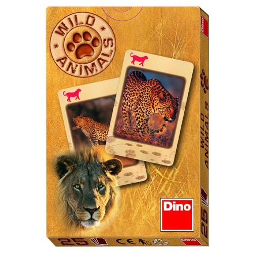 Karty Černý Petr Dino Wild Animals, 25 karet