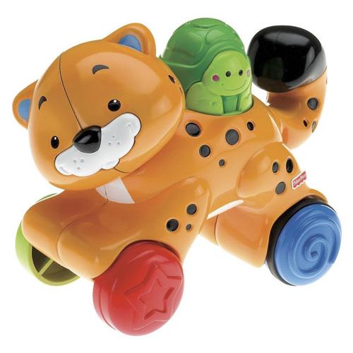 Jezdící leopard Mattel Na kolečkách