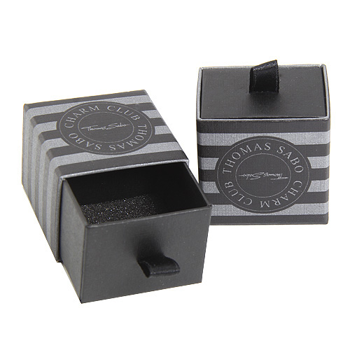 Thomas Sabo POS | Packing | BOX150 Charm Gift Box REBEL, MEDIUM, Square, Black-Grey