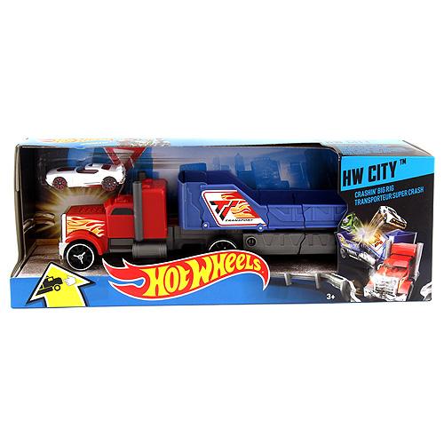 Havarující tahač Mattel Červený