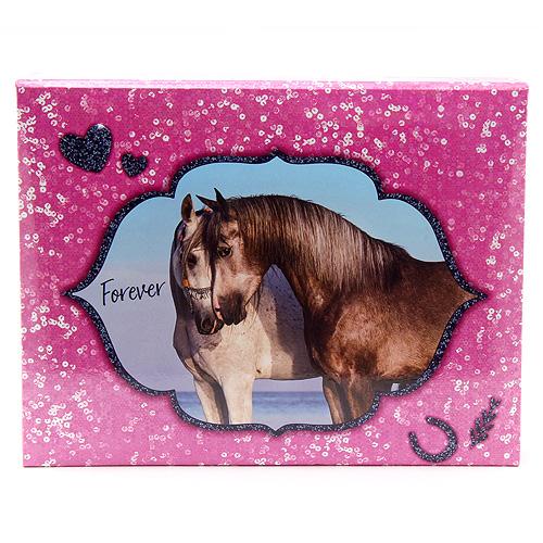 Pouzdro na kancelářské potřeby Horses Dreams Forever, růžové