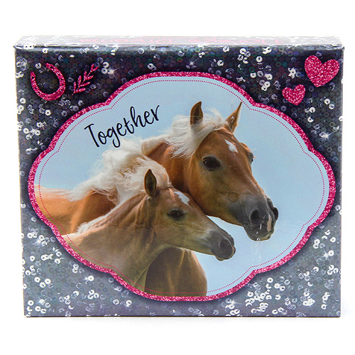 Bloček s tužkou Horses Dreams ASST Modrý