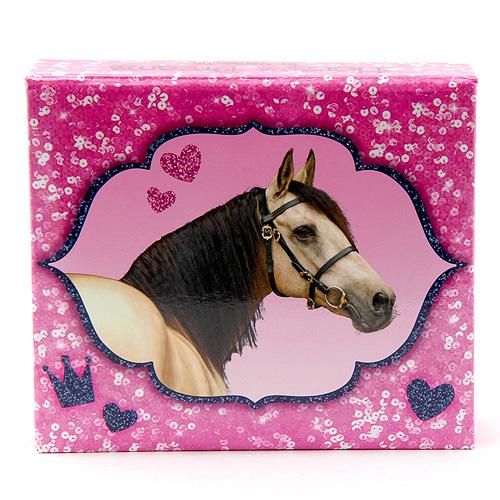 Bloček s tužkou Horses Dreams ASST Růžový