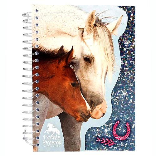 Zápisník Horses Dreams ASST Tmavě modrý, 70 stran