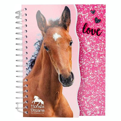 Zápisník Horses Dreams ASST Růžový, 70 stran