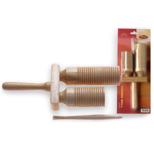 Dřevěné agogo Stagg dřevěné zvonky  s paličkou