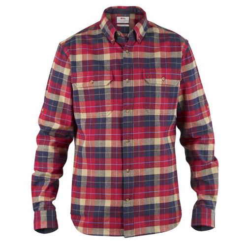 Fjällräven Singi Heavy Flannel Shirt M / Sarek Heavy Flannel Shirt Deep Red | 325 | L