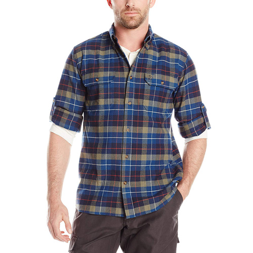 Fjällräven Singi Heavy Flannel Shirt M / Sarek Heavy Flannel Shirt Navy | 560 | XL