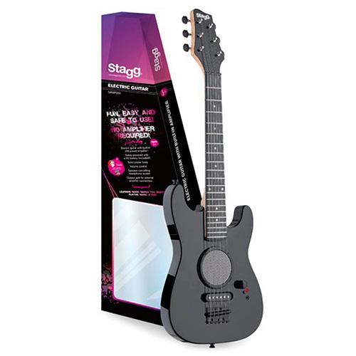 Elektrická kytara Stagg Černá