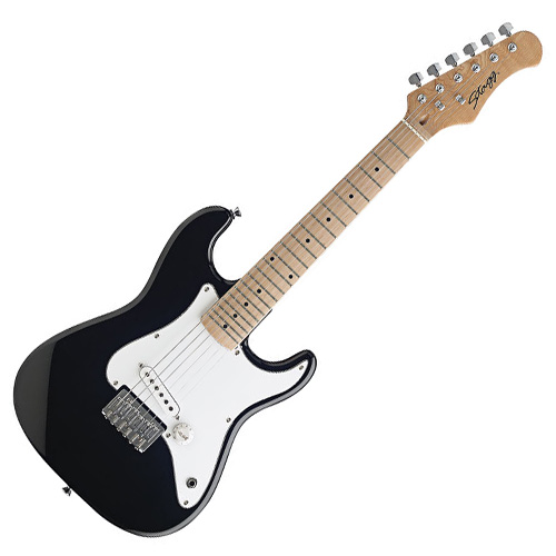 Elektrická kytara Stagg černá, Strat