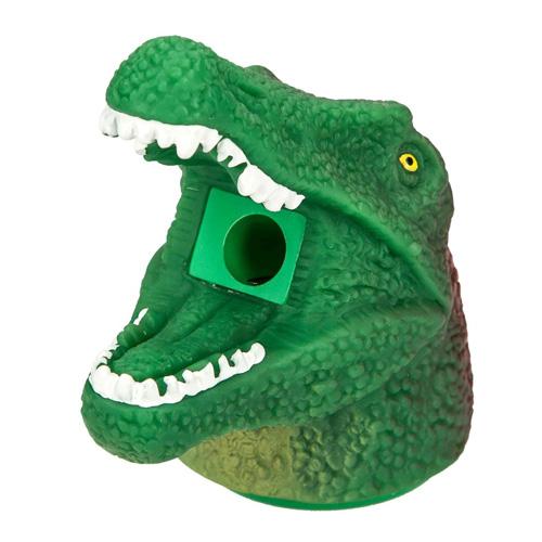 Ořezávátko Dino World ASST Hlava dinosaura s dlouhou tlamou, zeleno-červená