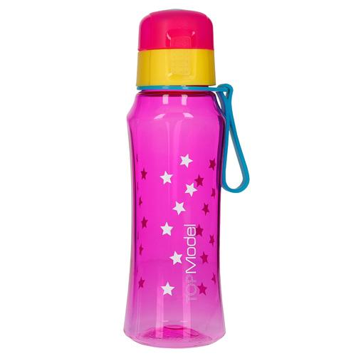 Láhev na pití Top Model Růžová s hvězdičkami, 500 ml