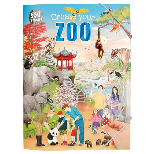 Kreativní sešit Create Your Zoo, 24 stran, 530 samolepek