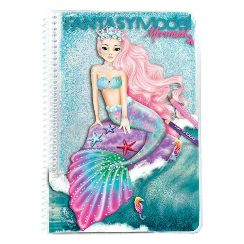 Omalovánky Fantasy Model Mořská panna, tyrkysové