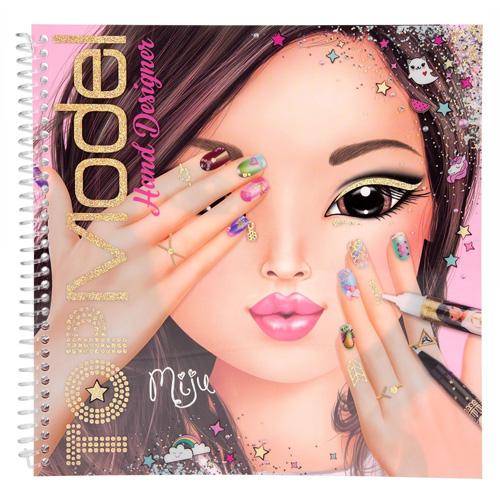 Omalovánky, kreativní sada Top Model Miju, Hand Designer