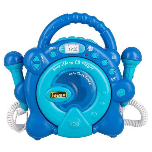 CD přehrávač Idena Modrý, 2 mikrofony