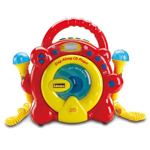 CD přehrávač Idena Žluto-červený, 2 mikrofony