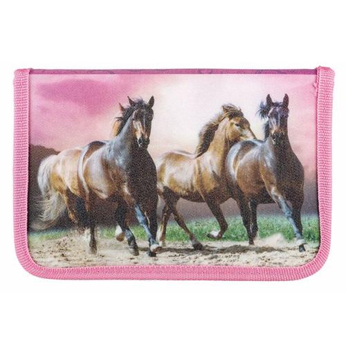 Školní penál s náplní Idena 3 koně na louce