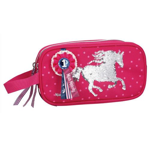 Kosmetická taška Miss Melody Růžová, měnící flitrový obrázek