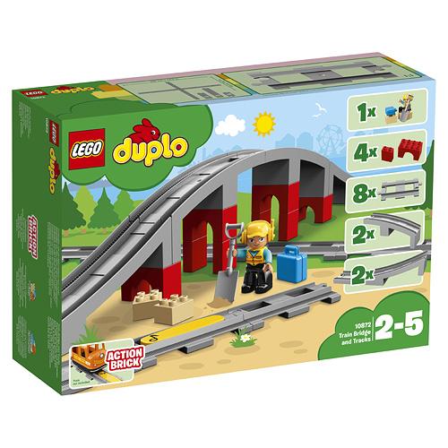 Stavebnice LEGO Duplo Doplňky k vláčku - most a koleje, 26 dílků