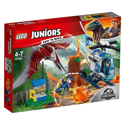 Stavebnice LEGO Juniors Jurassic World Útěk Pteranodona, 84 dílků