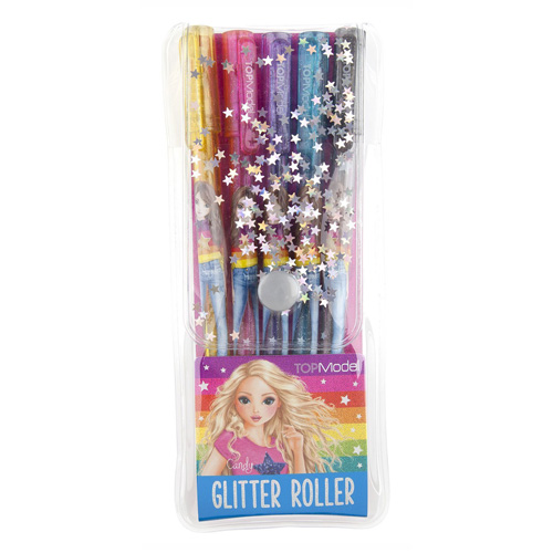 Gelová pera Top Model Candy, 5 barev náplně s glitry