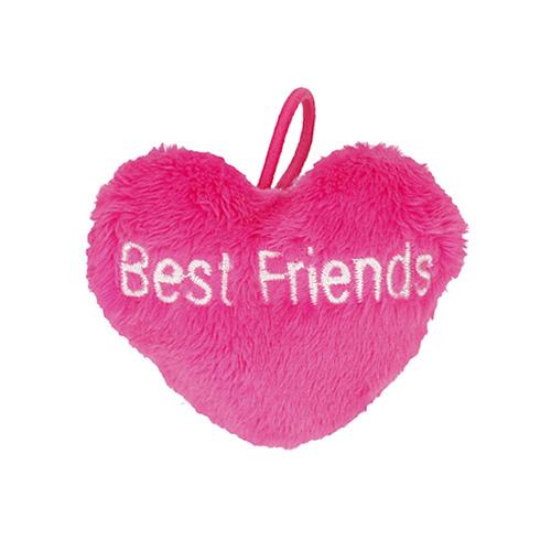 Přívěsek ve tvaru srdce Top Model ASST Best Friends, tmavě růžový