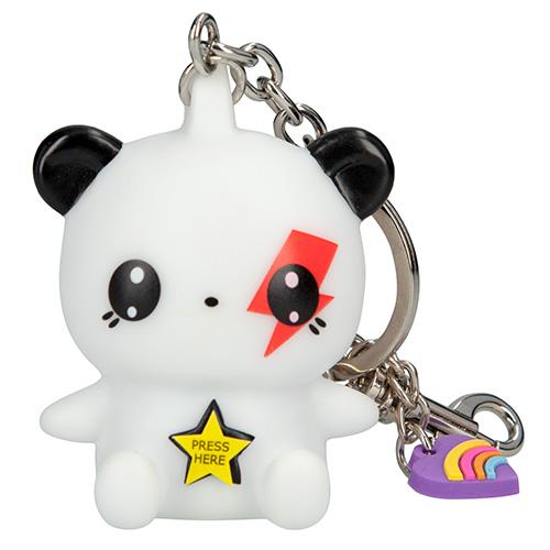 Přívěsek na klíče Manga Model Bílý medvídek, svítící
