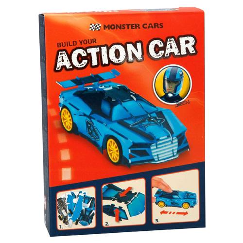 3D Puzzle Monster Cars ASST Ben, modré auto