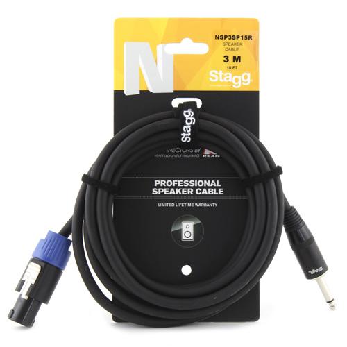 Reproduktorový kabel Stagg NSP3SP15R