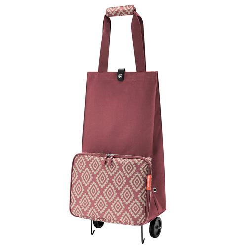 Nákupní taška Reisenthel Růžová s diamanty, skládací | foldabletrolley
