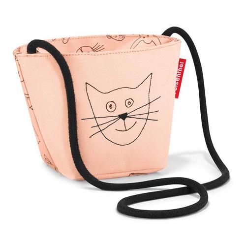 Taška přes rameno Reisenthel Kočička a pejsek, růžová | minibag kids