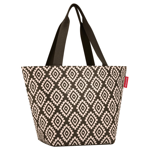 Nákupní taška Reisenthel Moka s diamanty | shopper M
