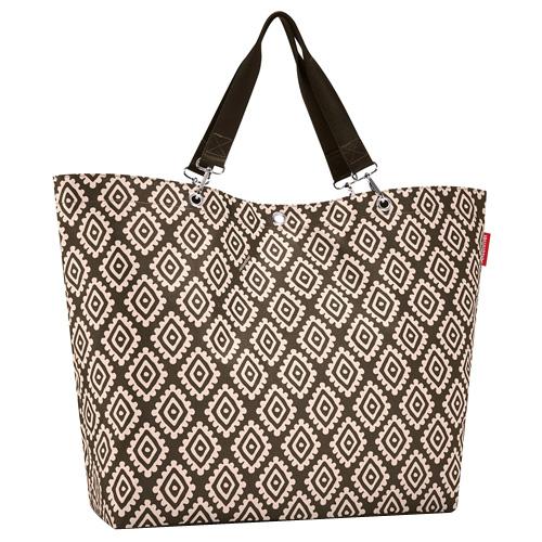 Nákupní taška Reisenthel Moka s diamanty | shopper XL