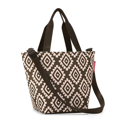 Nákupní taška Reisenthel Moka s diamanty | shopper XS