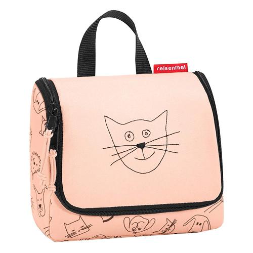 Cestovní toaletní taška Reisenthel Kočička a pejsek, růžová   toiletbag S kids