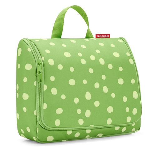 Cestovní toaletní taška Reisenthel Zelená s puntíky | toiletbag XL