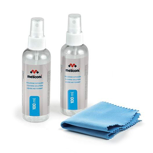 Meliconi 100+100ml of antistatic detergent solution + microfiber clot