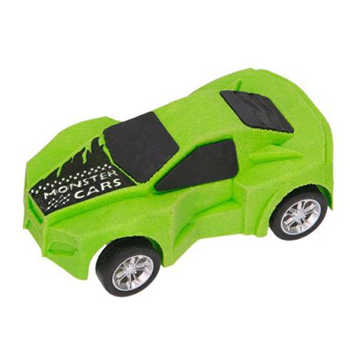 Guma ve tvaru auta Monster Cars ASST Barva zelená