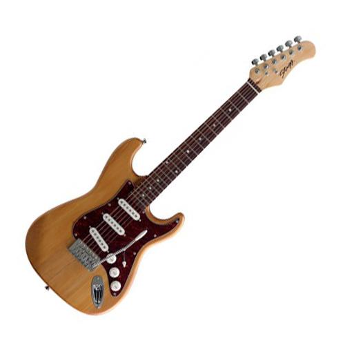 Elektrická kytara Stagg Typ Strat - ve 3/4 zmenšené verzi barva přírodní, matný lak