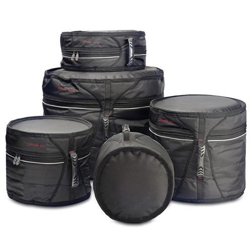 Sada pouzder na bubny Stagg 5ks, nylonové, černé