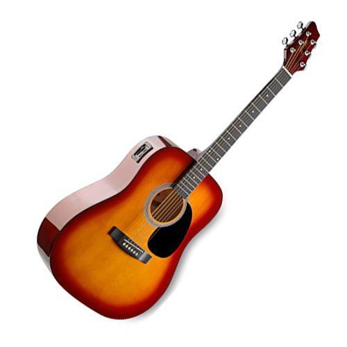 Elektro-akustická kytara Stagg SW201CS-VT